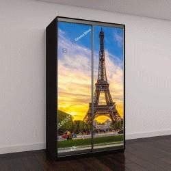 """Шкаф купе с фотопечатью """"Эйфелева башня и Марсово поле в Париже, Франция"""""""