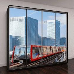 """Шкаф купе с фотопечатью """"Доклендское метро в Лондоне"""""""