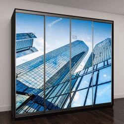 """Шкаф купе с фотопечатью """"вид на современные небоскребы в деловом районе """""""