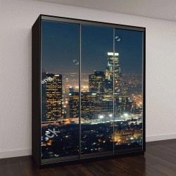 """Шкаф купе с фотопечатью """"Лос-Анджелес в ночное время"""""""