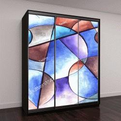 """Шкаф купе с фотопечатью """"Абстрактный дизайн искусство"""""""
