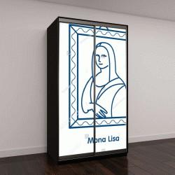 "Шкаф купе с фотопечатью ""Картина ""Мона Лиза"""""