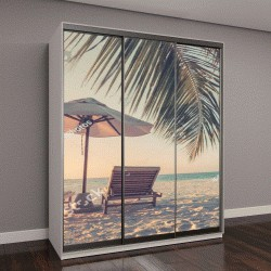 """Шкаф купе с фотопечатью """"Красивый пляж"""""""