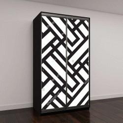 """Шкаф купе с фотопечатью """"абстрактный фон, черный и белый"""""""