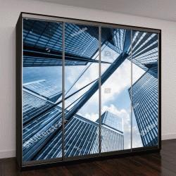 """Шкаф купе с фотопечатью """"небоскребы в городах Китая """""""