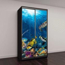 """Шкаф купе с фотопечатью """"подводный коралловый риф """""""