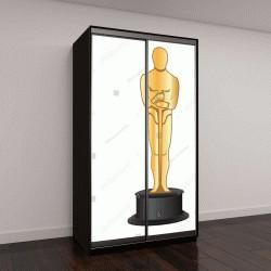 """Шкаф купе с фотопечатью """"векторная иллюстрация золотой статуэтки Оскар"""""""