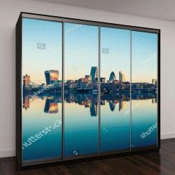 """Шкаф купе с фотопечатью """"Панорамный вид на город Лондон в Великобритании"""""""