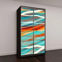 """Шкаф купе с фотопечатью """"Абстрактный дизайн, цветные полосы"""""""