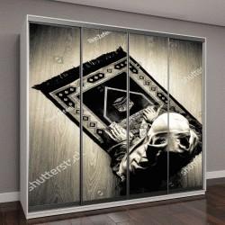 """Шкаф купе с фотопечатью """"Мусульманка молится возле окна"""""""