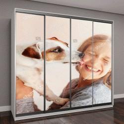"""Шкаф купе с фотопечатью """"Счастливый ребенок с собакой"""""""