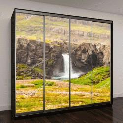"""Шкаф купе с фотопечатью """"Вид на небольшой водопад по дороге в Исландии"""""""