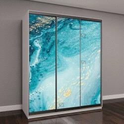 """Шкаф купе с фотопечатью """"Абстрактный океан - арт"""""""