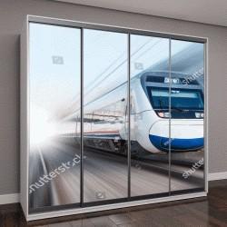 """Шкаф купе с фотопечатью """"высокоскоростной поезд """""""