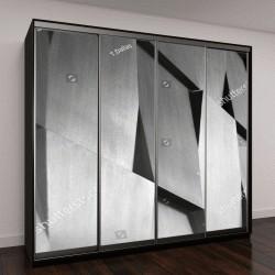 """Шкаф купе с фотопечатью """"Деревянная стена с геометрическим узором"""""""