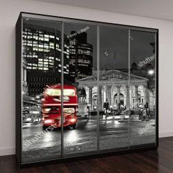 """Шкаф купе с фотопечатью """"Лондон с красным автобусом"""""""