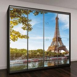"""Шкаф купе с фотопечатью """"Эйфелева башня, Париж"""""""