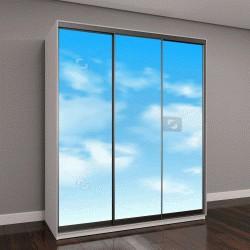 """Шкаф купе с фотопечатью """"Фон с облаками на голубом небе"""""""