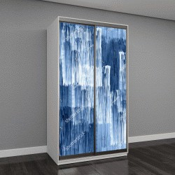 """Шкаф купе с фотопечатью """"Абстрактные полосы Паттен голубой акварель текстуры фона гео"""""""