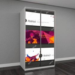 """Шкаф купе с фотопечатью """"Набор ярких полигональных геометрических фонов для современного дизайна """""""