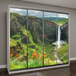 """Шкаф купе с фотопечатью """"водопад Фолс в Лесото, Африка"""""""