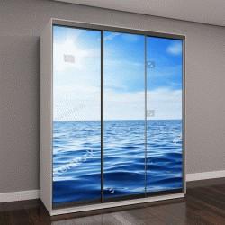 """Шкаф купе с фотопечатью """"Красивое небо и голубой океан"""""""