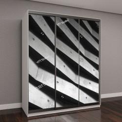 """Шкаф купе с фотопечатью """"Архитектура, геометрический абстрактный фон"""""""
