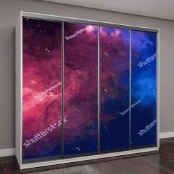 """Шкаф купе с фотопечатью """"красочные ночное небо, космос"""""""