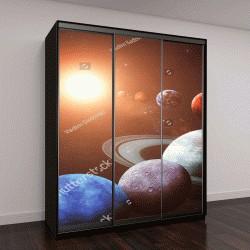 """Шкаф купе с фотопечатью """"Солнечная система и космические объекты"""""""
