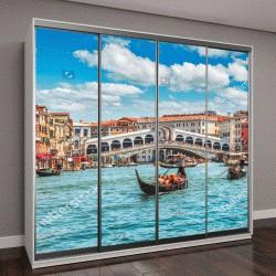 """Шкаф купе с фотопечатью """"Мост Риальто на Большом канале, панорамный вид Венеции """""""