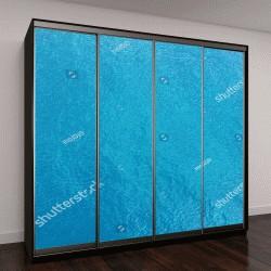 """Шкаф купе с фотопечатью """"Голубая поверхность моря, вид сверху"""""""