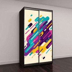 """Шкаф купе с фотопечатью """"Современная абстракция, композиция из пятен"""""""