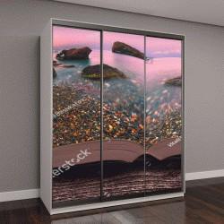 "Шкаф купе с фотопечатью ""Восход солнца над морским заливом """