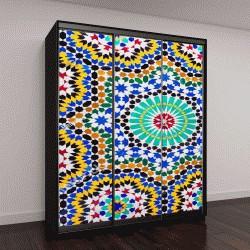 """Шкаф купе с фотопечатью """"картина из мозаики в марокканском стиле"""""""