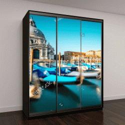 """Шкаф купе с фотопечатью """"городской вид на базилику Санта-Мария делла Салюте с гондолы на Гранд-канале в Венеции"""""""
