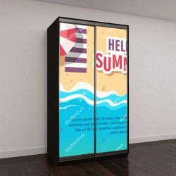 """Шкаф купе с фотопечатью """"Здравствуйте летней концепции векторные иллюстрации"""""""