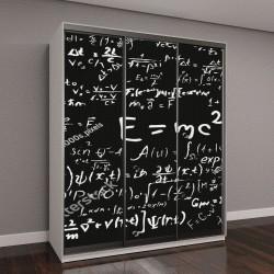 """Шкаф купе с фотопечатью """"научные формулы и расчеты по физике и математике"""""""