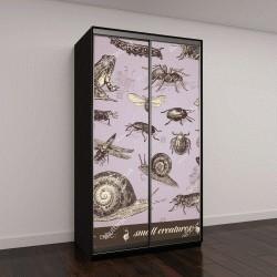 """Шкаф купе с фотопечатью """"маленькие существа - коллекция различных мелких животных"""""""