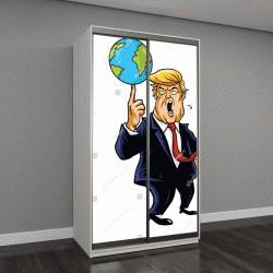 """Шкаф купе с фотопечатью """"карикатура Дональд Трамп """""""