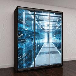 """Шкаф купе с фотопечатью """"центр обработки данных"""""""