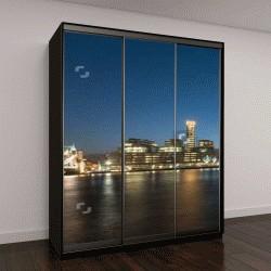 "Шкаф купе с фотопечатью ""Лондон на фоне линии горизонта Панорама на закате"""