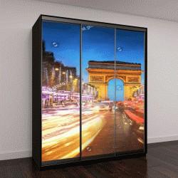"""Шкаф купе с фотопечатью """"Триумфальная арка, Париж на закате"""""""