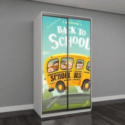 """Шкаф купе с фотопечатью """"Снова в школу! """""""