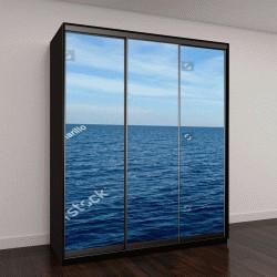 """Шкаф купе с фотопечатью """"Темно-синее моря и голубое небо"""""""