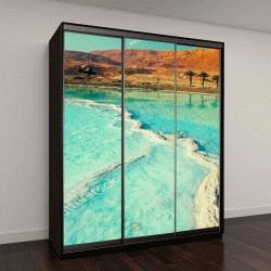 """Шкаф купе с фотопечатью """"Мертвое море, соленый берег"""""""