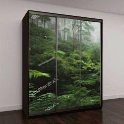 """Шкаф купе с фотопечатью """"Пышные тропические леса с утренним туманом"""""""