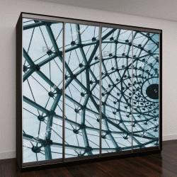 """Шкаф купе с фотопечатью """"Структурный стеклянный фасад"""""""
