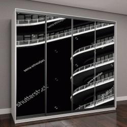 """Шкаф купе с фотопечатью """"простая архитектура - черный и белый"""""""