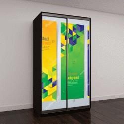 """Шкаф купе с фотопечатью """"Коллекция дизайн баннер, флаг Бразилия цвет фона, векторные иллюстрации"""""""