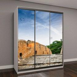 """Шкаф купе с фотопечатью """"Великая Китайская стена на закате"""""""